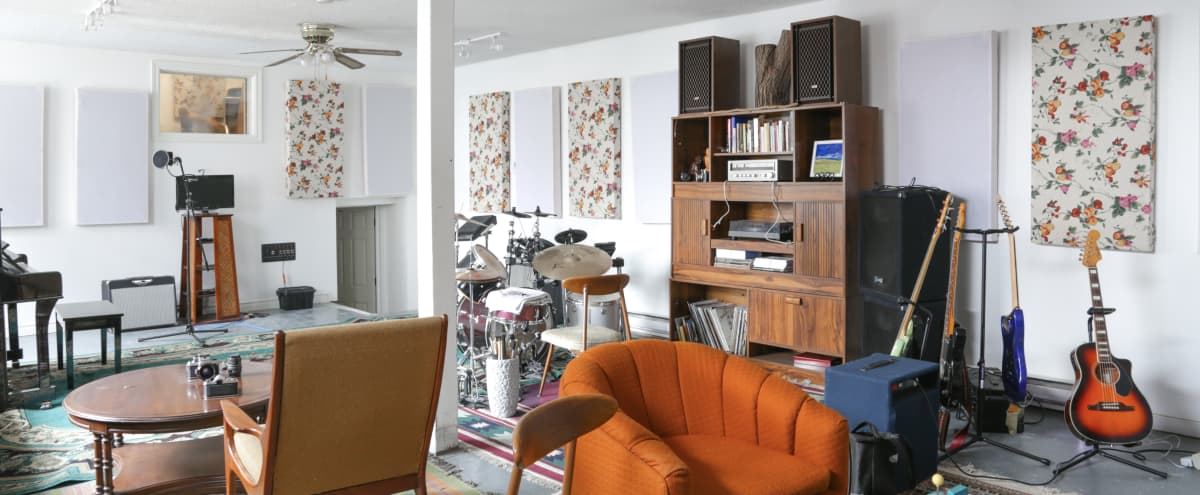 Music Studio And Event Space With Teak Decor And Vintage Vibe in Toronto Hero Image in Carleton Village, Toronto, ON