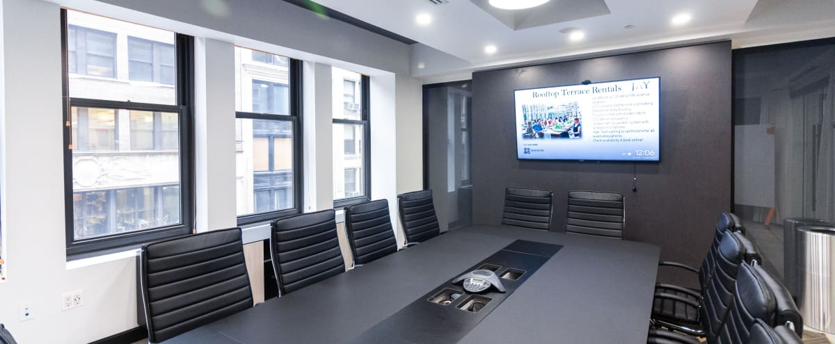 * 50% Off Promo * Awesome Modern Brand New 12 person Meeting Space with Windows - * 50% Off Promo * in New York Hero Image in Midtown Manhattan, New York, NY