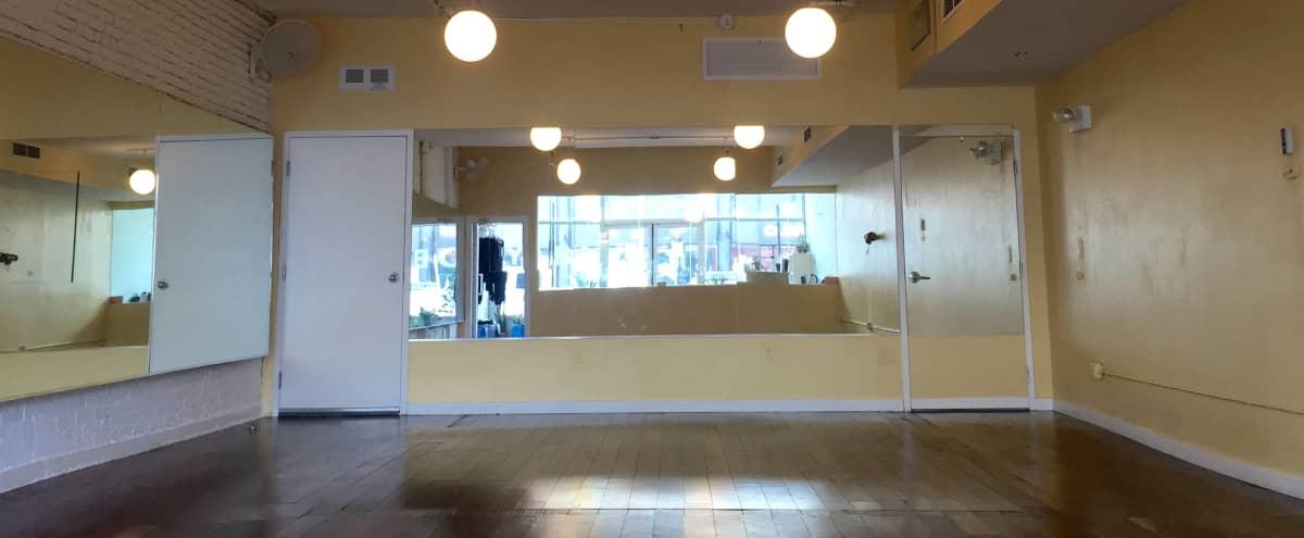 Beautiful Brooklyn Yoga Studio with Hardwood Floors and Exposed Brick in Brooklyn Hero Image in Williamsburg, Brooklyn, NY