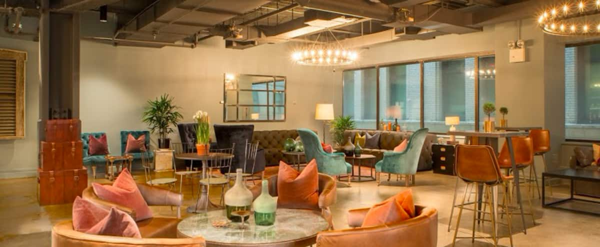 Stylish Coworking Lounge in New York Hero Image in Financial District, New York, NY