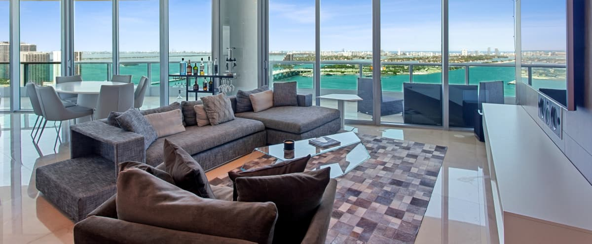 Luxury 4 bedroom Mansion in the Air with bay views! in Miami Hero Image in Downtown Miami, Miami, FL