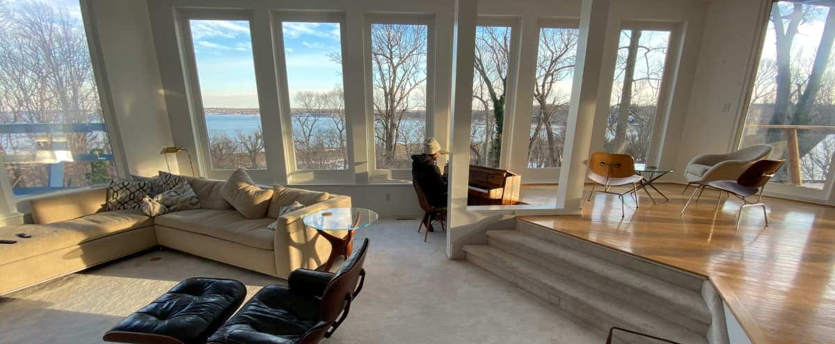 Mid Century Modern home with amazing views of Huntington Bay in Lloyd harbor Hero Image in undefined, Lloyd harbor, NY