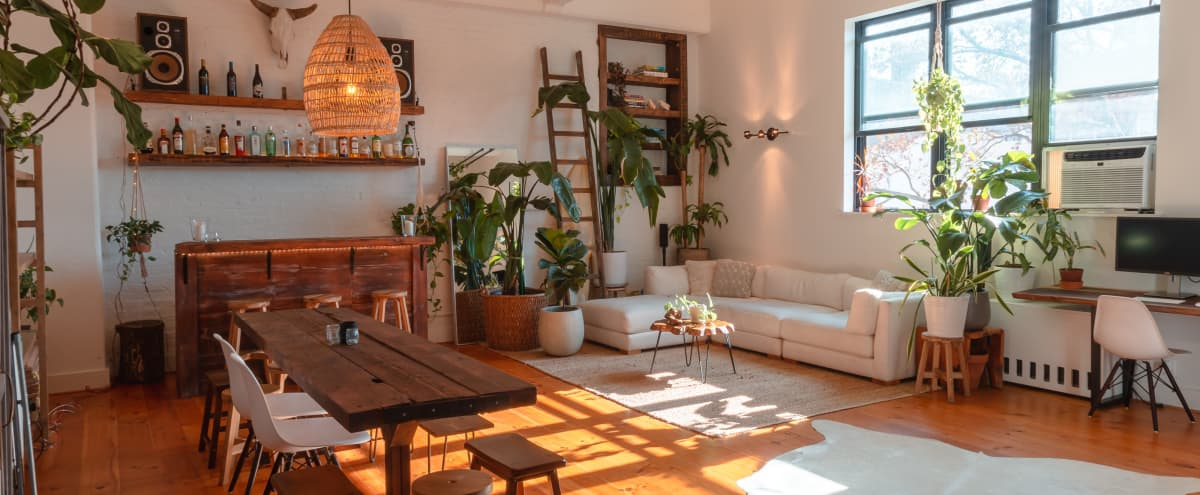 Plant-Filled Loft In Old Factory - Williamsburg, BK in BROOKLYN Hero Image in Williamsburg, BROOKLYN, NY