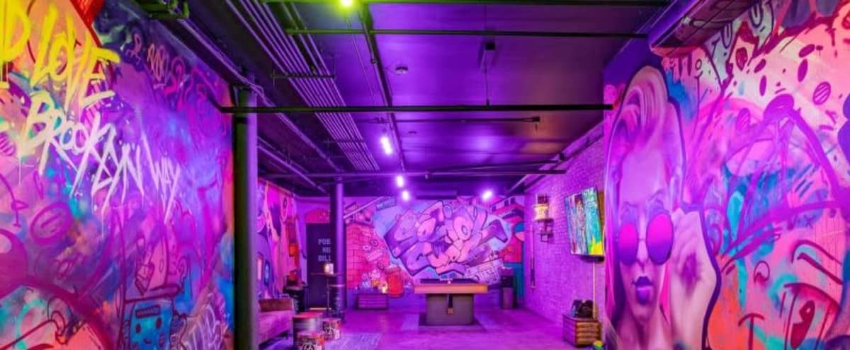 Street Art-Inspired Unique Private Space in Brooklyn Hero Image in East Williamsburg, Brooklyn, NY