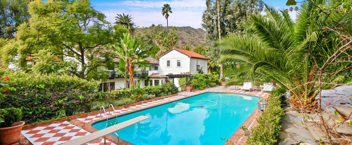 Glorious Spanish Revival with French style Interior in Los Angeles Hero Image in Hollywood Hills, Los Angeles, CA