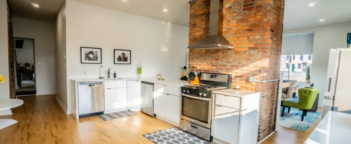 Modern Flat with A City View in Pittsburgh Hero Image in East Allegheny, Pittsburgh, PA
