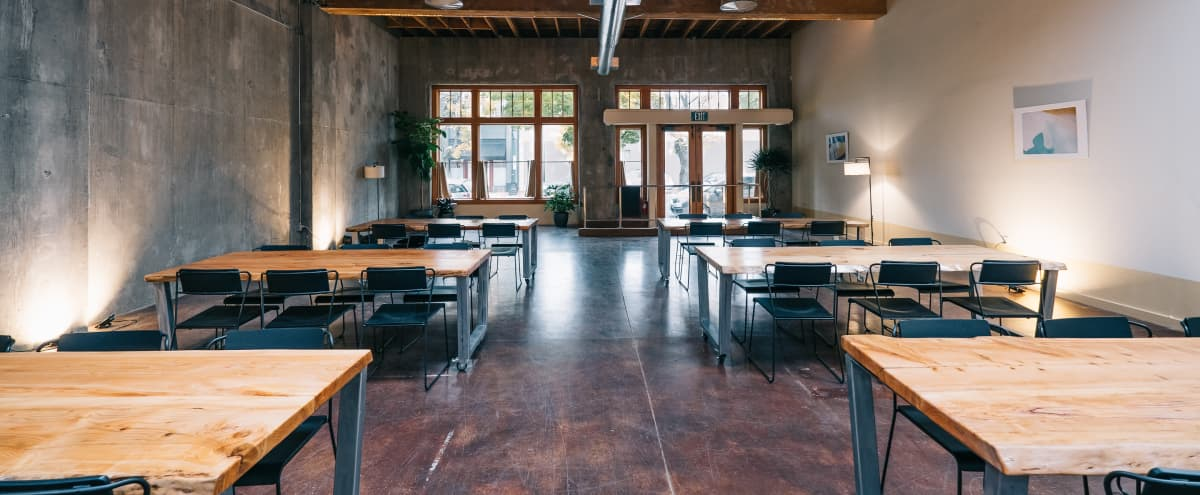 Spacious and Industrial Event Venue in Portland Hero Image in Southeast Portland, Portland, OR