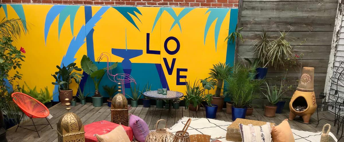 Bohemian Oasis Secret Tropical Courtyard in new orleans Hero Image in Lower Garden District, new orleans, LA