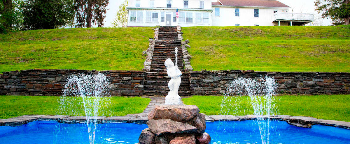 Historic 19th Century Estate - Pool, hot tub, fire pit, 5.5 acres 1hr to NYC in harriman Hero Image in undefined, harriman, NY