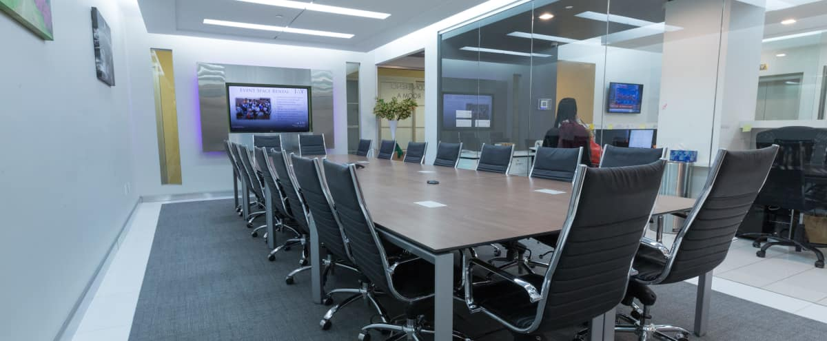 Large Glass Meeting Room on 34th Street - Meeting Room A in New York Hero Image in Midtown, New York, NY
