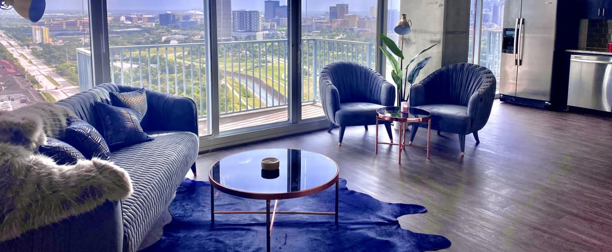 Luxury High Rise with Skyline View (Mosaic Across Street from Hermann Park) in Houston Hero Image in MacGregor, Houston, TX