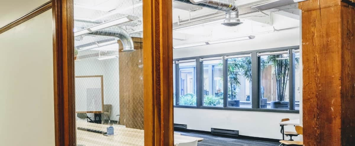 Functional Workshop Room With Natural Light and Exposed Timber in Seattle Hero Image in Downtown, Seattle, WA