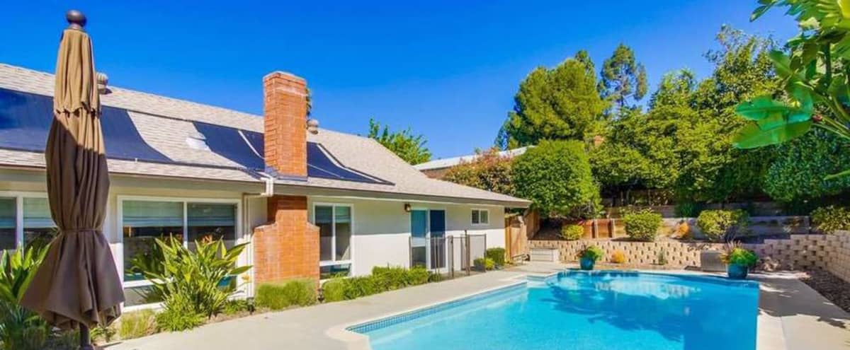 My Happy Place; San Diego - SFR with relaxing pool and patio area in San Diego Hero Image in Rancho Peñasquitos, San Diego, CA