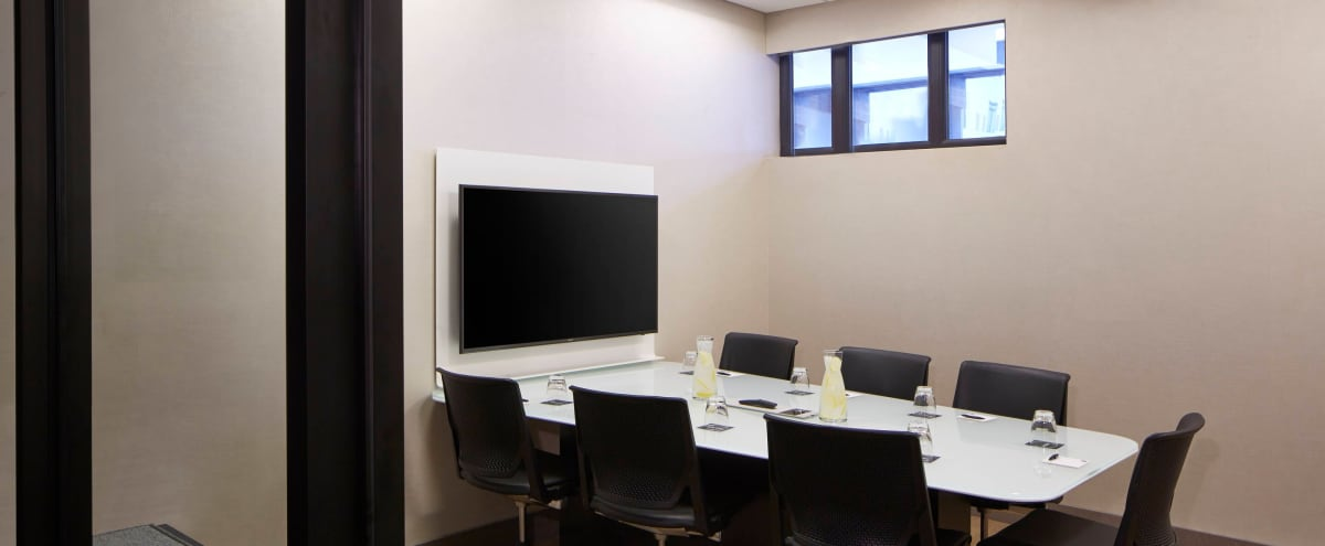 Modern Private Meeting Room for 7 in Bellevue Hero Image in West Bellevue, Bellevue, WA
