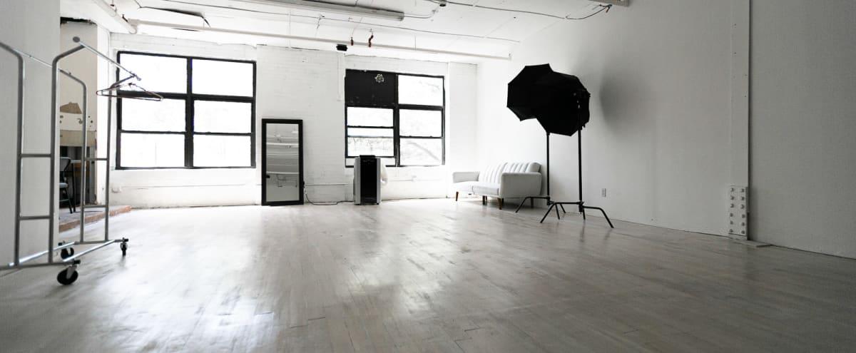 White Brick Walls  Photo studio with whitewash floor and beautiful natural light - Astoria 6 in Astoria Hero Image in Astoria, Astoria, NY