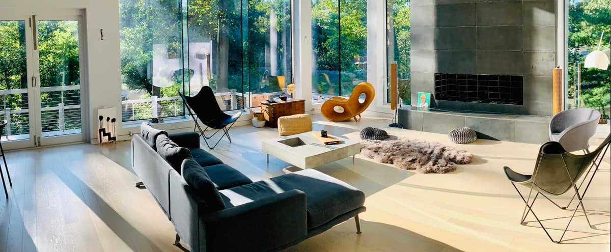 Unique Modern Mansion with beautiful decor and big spaces , High Ceiling, big windows around all the house. in Montclair Hero Image in undefined, Montclair, NJ