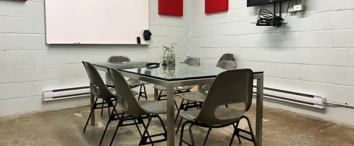 Collaborative Meeting Room w/ TV + Coffee + Lounge in Toronto Hero Image in Niagara, Toronto, ON
