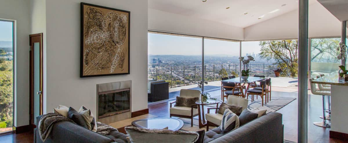 West Hollywood hills home with jetliner views of downtown, Griffith Park and the ocean in Los Angeles Hero Image in West Hollywood, Los Angeles, CA
