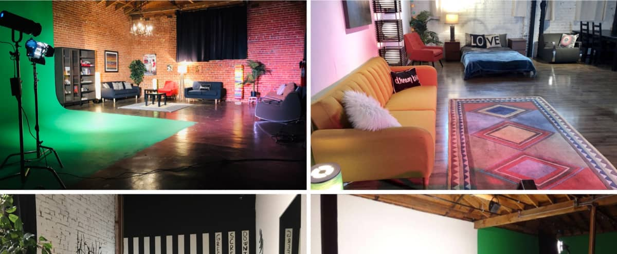 Multi-set Studio, Pre-lit Green Screen Cyclorama, White cyc, Black void, brick DTLA in Los Angeles Hero Image in Downtown, Los Angeles, CA