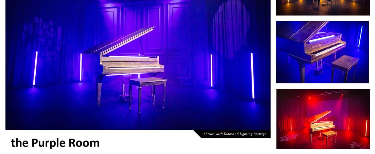 VIBEY GOLD PIANO / PURPLE ROOM | CreatorLA in Los Angeles Hero Image in Central LA, Los Angeles, CA