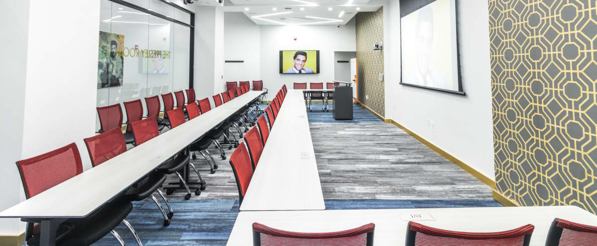 The Presley Room- 20% Discount-Large 70 Person Meeting Space/Class Room with Private Lounge and Kitchen Area in New York Hero Image in Midtown Manhattan, New York, NY