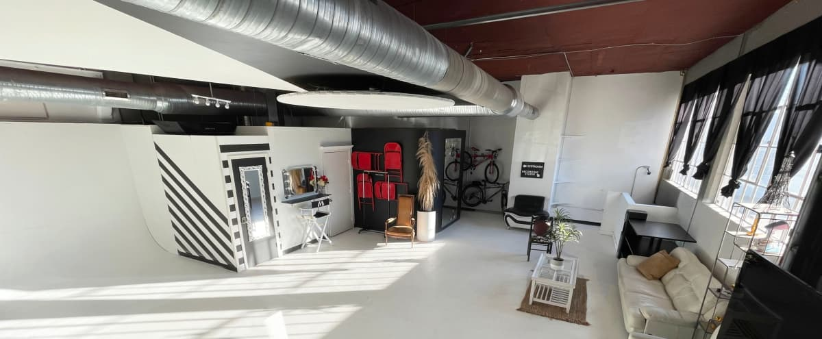 Large Photo and Video Studio Downtown with Parking, seamless paper, lighting and creative sets designs in Atlanta Hero Image in Mechanicsville, Atlanta, GA