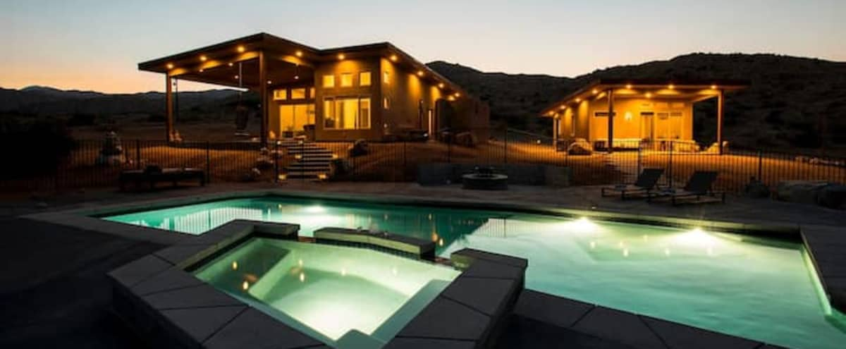 Modern Desert Oasis with Views, Crystals, Swimming Pool and More! in pioneertown Hero Image in undefined, pioneertown, CA