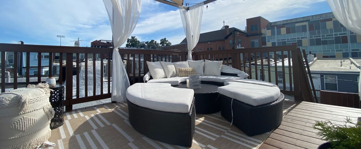 Modern Glam Row House w/Rooftop City Views in Baltimore Hero Image in Patterson Park, Baltimore, MD