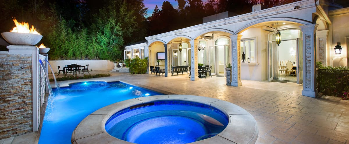 Elegant Beverly Hills Mansion Estate, Transitional Style And Bright   with Natural Light, Pool, Baja Pool, Jacuzzi and Gym in Beverly Hills Hero Image in undefined, Beverly Hills, CA
