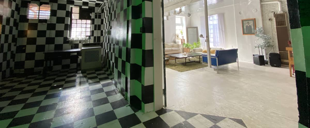 Huge Multi-Set Warehouse Loft with Immersive Checkerboard Room in Chicago Hero Image in Bucktown, Chicago, IL