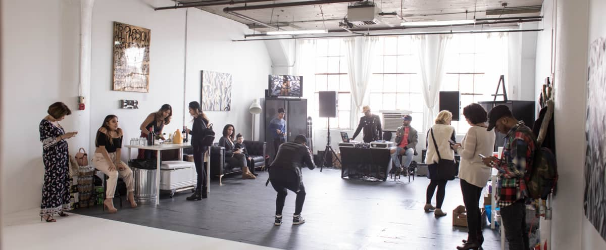 Photography Studio that Doubles as Event Space! 1000 sqft production / event space with a 14ft Cyclorama  beautiful lounge, big windows for natural light. in Hoboken Hero Image in undefined, Hoboken, NJ