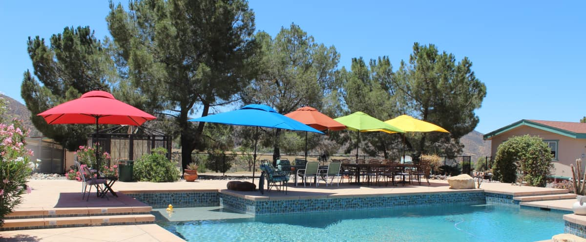 Hilltop Ranch w/Huge Pool, 360 degree Mountain Views-Weddings R Us! in Agua Dulce Hero Image in undefined, Agua Dulce, CA