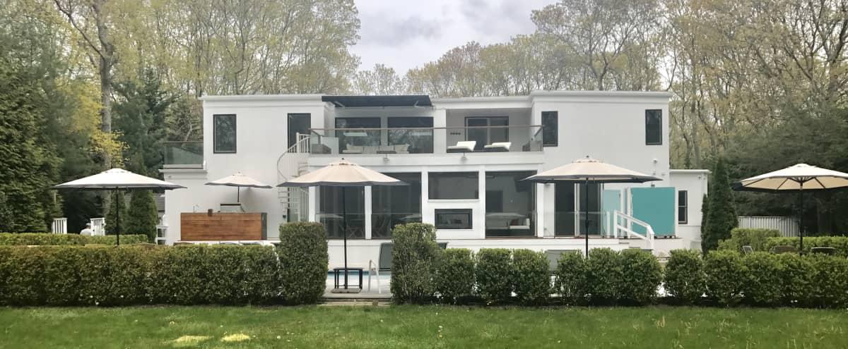East Hampton 7 bedroom, 6 bath, heated pool, theater, contemporary smart home! in East Hampton Hero Image in undefined, East Hampton, NY