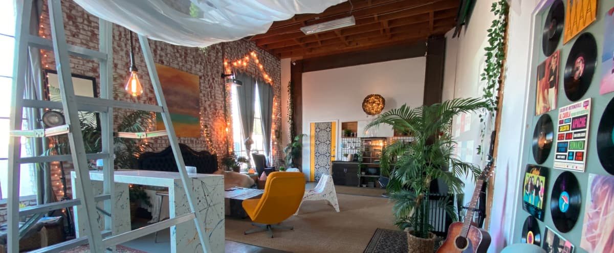 Downtown Versatile Loft Space With City Views and Floating Bed in Los Angeles Hero Image in South Los Angeles, Los Angeles, CA