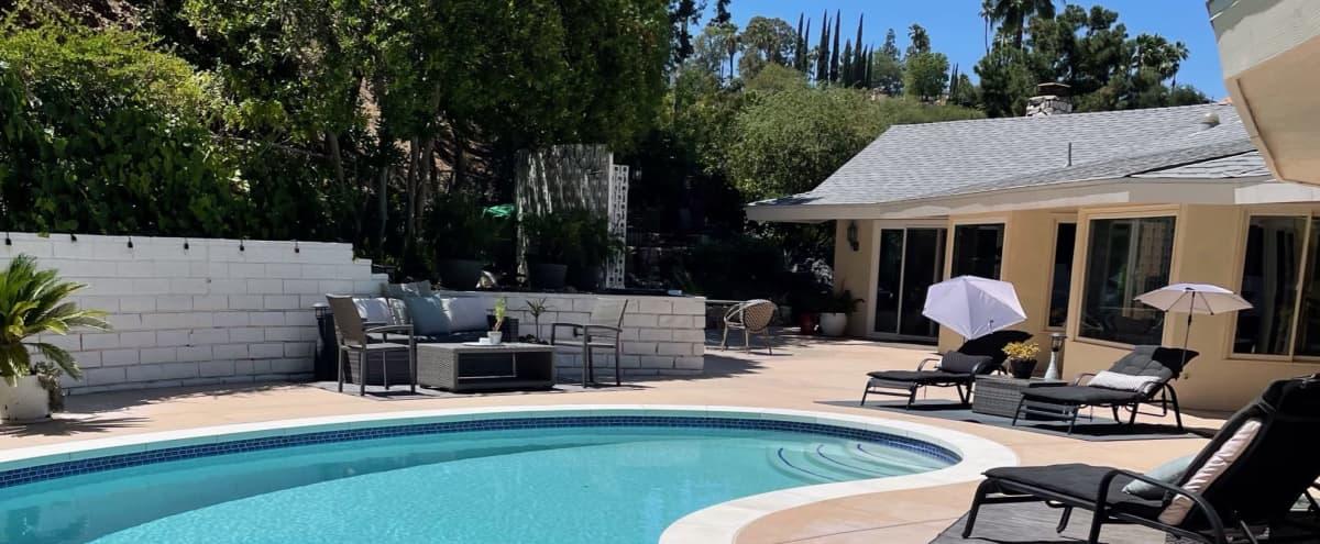 Hillside Mid-Century Modern Home in Encino Hero Image in Encino, Encino, CA