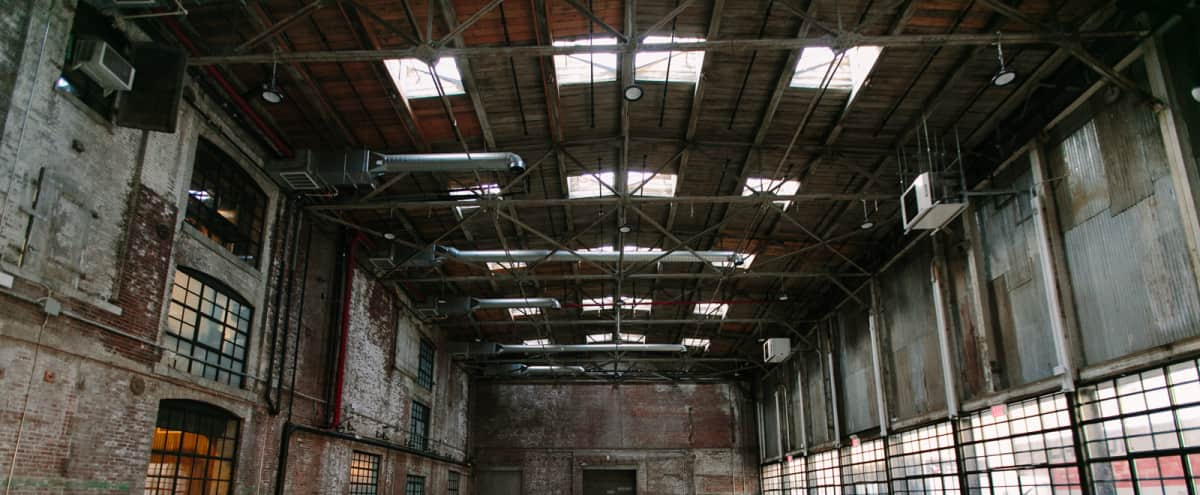Huge Open Warehouse In Greenpoint in Brooklyn Hero Image in Greenpoint, Brooklyn, NY