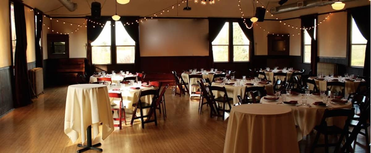 Historic Ballroom in Portland Ideal For Off-Sites, Meetings & Retreats in Portland Hero Image in Woodlawn, Portland, OR