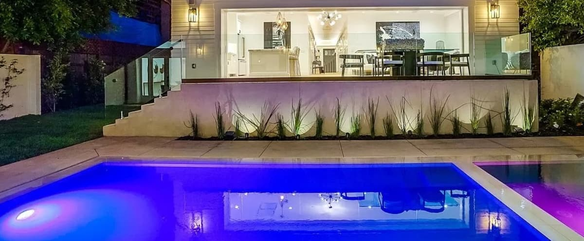 Stunning, Indoor/Outdoor Home with Pool & Hollywood Hills View in Los Angeles Hero Image in Hollywood, Los Angeles, CA