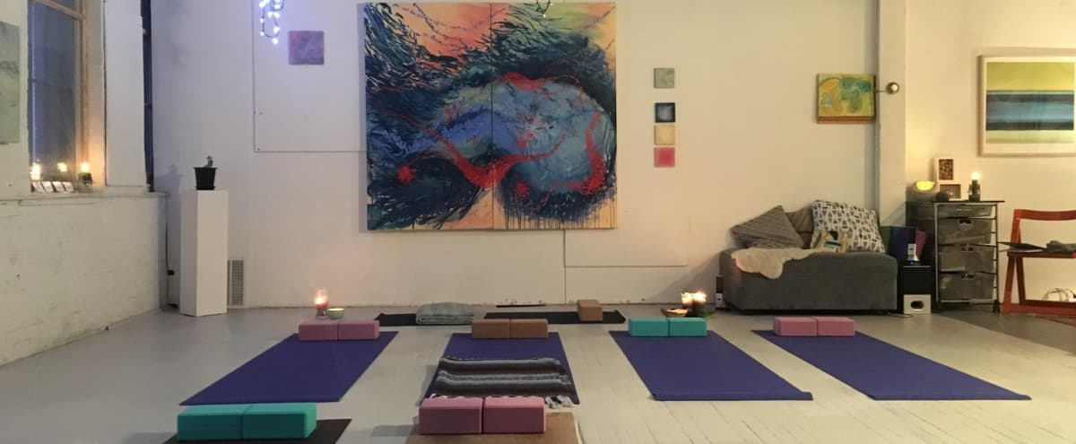 Southern Light–Filled Art and Yoga Studio, Wellness Hub and Exhibition Space in Baltimore Hero Image in Greenmount West, Baltimore, MD