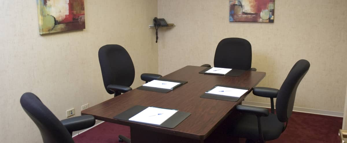 4 Person Meeting Room with Easily Accessible Oak Brook Location | Oak Room in Oak Brook Hero Image in Oak Brook, Oak Brook, IL
