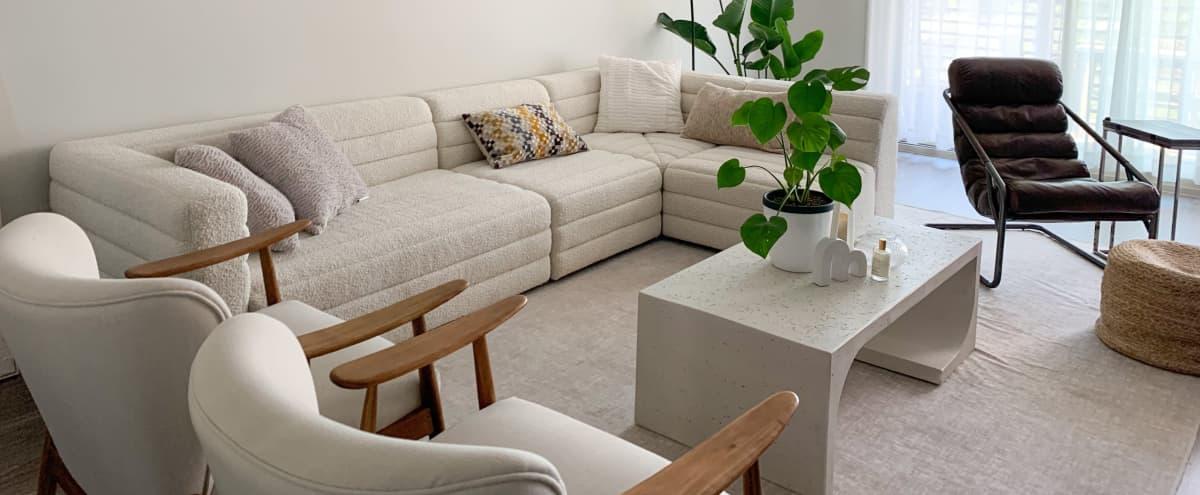 KONA ABODE - Minimalist Midcentury Modern Condo Living Space in Irvine Hero Image in Orange County Great Park, Irvine, CA