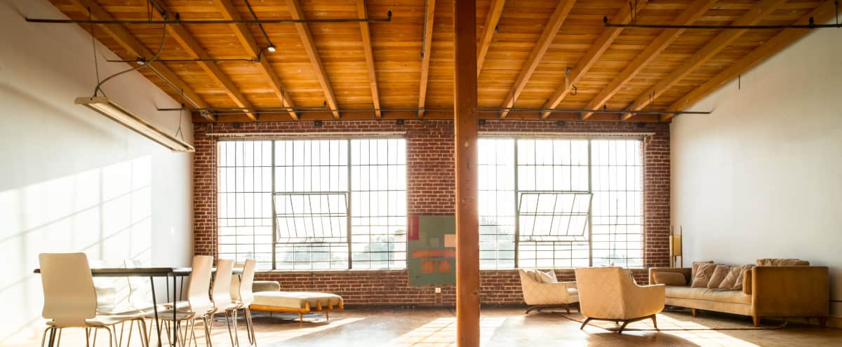 Luxurious, Spacious Loft with Natural Light and Exposed Brick in Los Angeles Hero Image in South Los Angeles, Los Angeles, CA