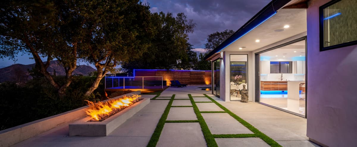 Modern Mansion in the Hills w/ Iconic Views in Los Angeles Hero Image in Studio City, Los Angeles, CA