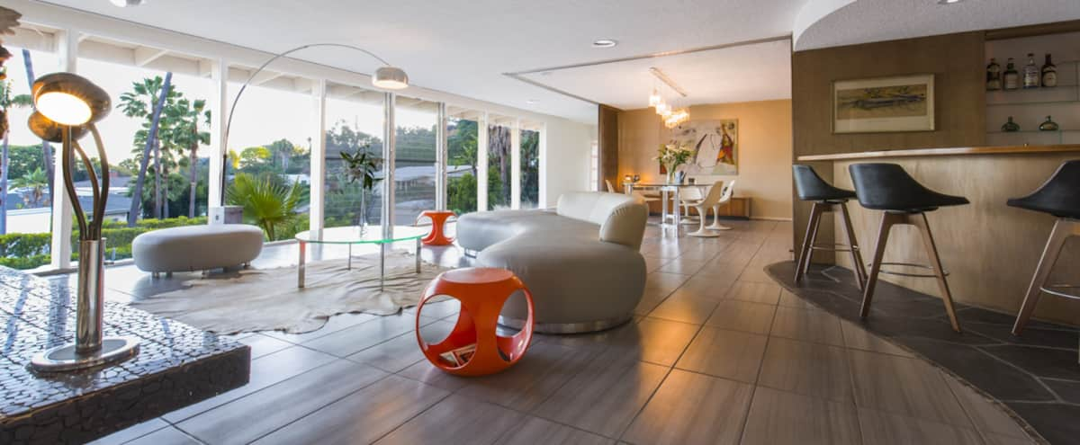 Iconic Villa 60's Retro West Hollywood midcentury for Private Events in Los Angeles Hero Image in Beverly Hills, Los Angeles, CA