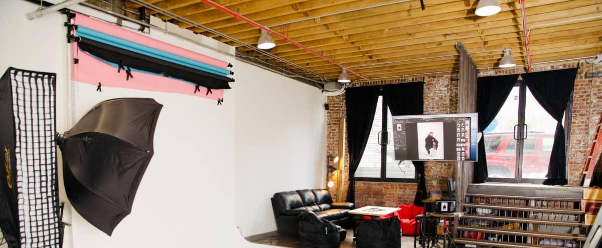 Spacious 24 hr Ground Floor Photo Studio in Bushwick in Brooklyn Hero Image in East Williamsburg, Brooklyn, NY
