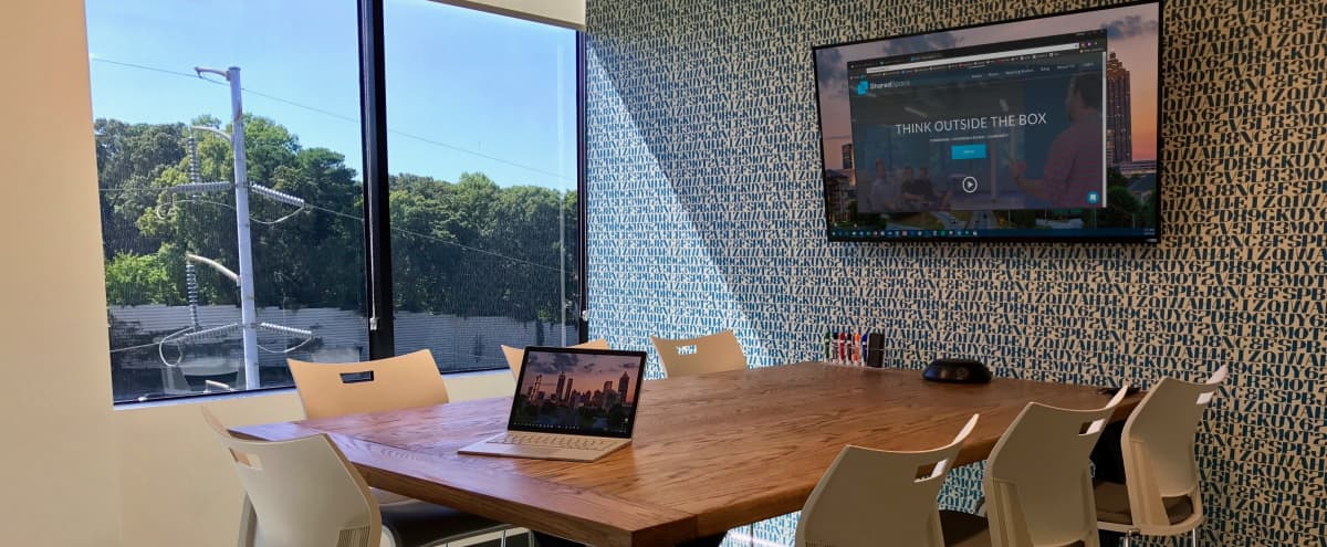 7 Person Meeting Room in Creative Space Located in Dunwoody in Atlanta Hero Image in undefined, Atlanta, GA