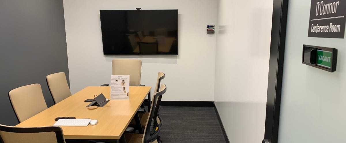 6 Person Hi-Tech Meeting Room & Conference Room in Irving Hero Image in Las Colinas, Irving, TX