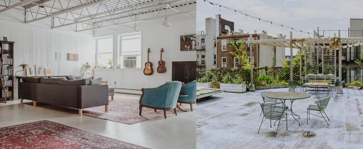 Huge, sunny loft with romantic roof garden in Brooklyn Hero Image in Gowanus, Brooklyn, NY