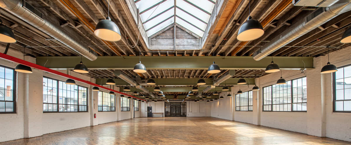 Incredible Event Space With Exposed Beams and Pipes in Baltimore Hero Image in Homeland, Baltimore, MD