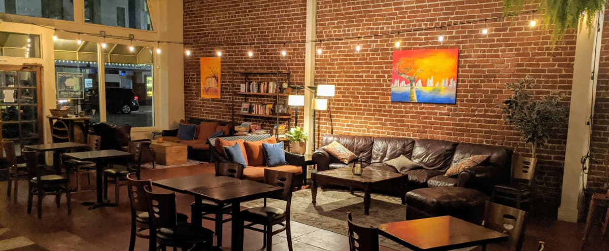 Charming brick-lined cafe & event space great for filming in historic Monrovia in Monrovia Hero Image in undefined, Monrovia, CA